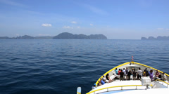 A ferry to phi phi islands Stock Footage