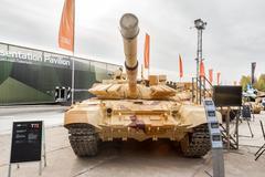 Modernized tank T-72. Russia - stock photo
