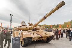 Modernized tank T-90s. Russia - stock photo