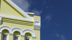 Tropical Yellow Building Stock Footage