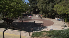 COLLEGE UNIVERSITY CAMPUS STUDENTS COEDS IN SPRING AT THE SCHOOL QUAD HD 1080 Stock Footage