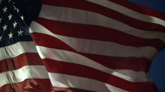 AMERICAN FLAG USA REAL TIME CLOSE UP WAVING IN WIND HIGH DEFINITION LONG CLIP  - stock footage