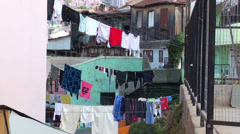 0725  Hanging clothes Stock Footage