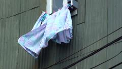 0728  Hanging clothes Stock Footage