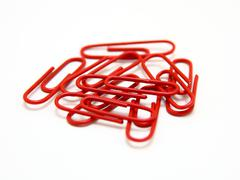 Color paper clips Stock Photos