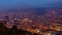 Stock Video Footage of Medellin Downtown Time Lapse