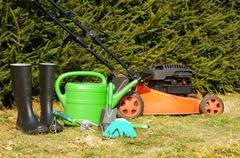 Garden time Stock Photos
