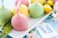 Stock Photo of easter cake pops