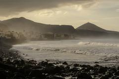 coast line view in the gran canarias - stock photo