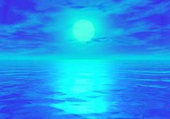 fantasy sea scape - stock illustration