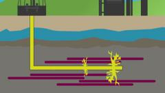 Stock Video Footage of Fracking Animation
