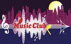 City music club Stock Illustration