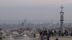 Barcelona - Catalonia - Spain - Gaudi - Park Güell - HD 1920 X 1080P Stock Footage