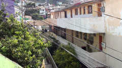 0726  Characteristic streets of the hills of Valparaiso Stock Footage