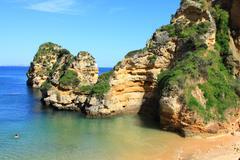 Dona Ana Beach in Lagos, Algarve, Portugal - stock photo