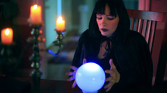 Crystal ball magic Stock Footage