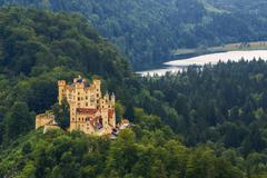 hohenschwangau castle in the bavarian alps - tirol, germany - stock photo