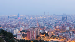 Barcelona BCN-day-to-night Stock Footage