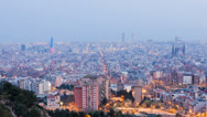 Stock Video Footage of Barcelona BCN-day-to-night