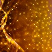 Stock Illustration of Glittery golden festive background with stars and waves