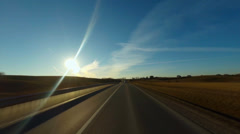 Rural road, timelapse Stock Footage