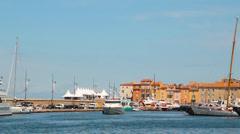 Port of Saint-Tropez, France - stock footage