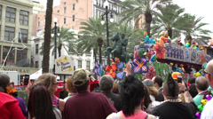 His Majesties Enterouge float in Thoth parade Stock Footage