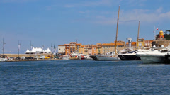 Port of Saint-Tropez, France Stock Footage