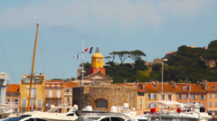 Saint-Tropez, France - stock footage