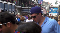 Streets of New Orleans during Mardi Gras 2014 - stock footage