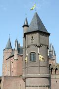 Castle towers - stock photo