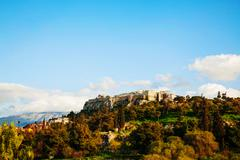 Overview of acropolis in athens, greece Stock Photos