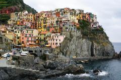 Colorful houses of manarola cinque terre Stock Photos