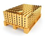 Stock Illustration of Pallet with bullion of gold