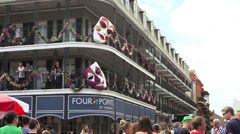 Four Points by Sheraton hotel on Bourbon Street wide angle - stock footage
