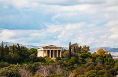 Stock Photo of temple of hephaestus in athens