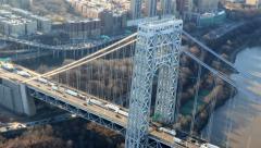 New York City George Washington Bridge Aerial 2 - stock footage