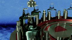 Bottling bottle plant Stock Footage