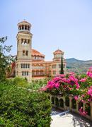 Church Agios Nectarios on island Aegina, Greece - stock photo