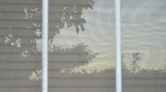 Reflection on sunset on window Stock Footage
