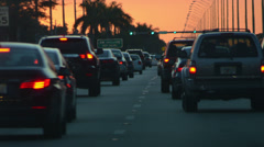 Hysterical miami roads sunset timelapse for vjs Stock Footage
