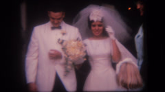 Old home movie wedding ceremony celebration Stock Footage