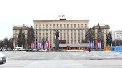 Voronezh 01 Russia Lenin monument Stock Footage