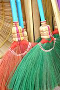 Detail broom fibers Stock Photos