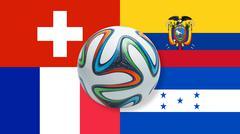 World Cup 2014 Brazil Group E - stock illustration