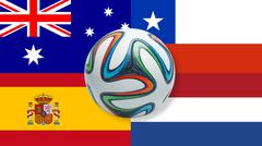 World Cup 2014 Brazil Group B Stock Illustration