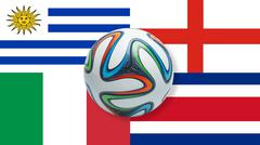 World Cup 2014 Brazil Group D Stock Illustration