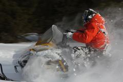 Stock Photo of snowmobile