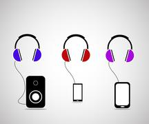 The headphones Stock Illustration