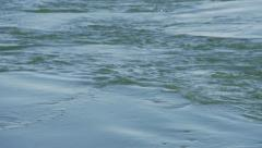 Rolling Green River Water Swirling Current Stock Footage